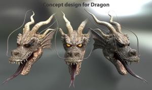 Concept textures for Dragon